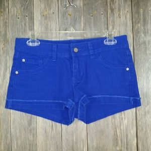 Love Notes Womens Shorts Blue Jean Cobalt Royal